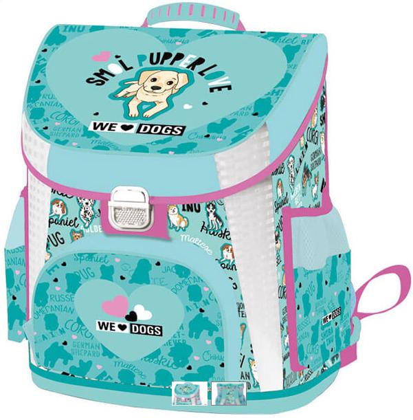 Anatomická školská taška Premium We love Dogs
