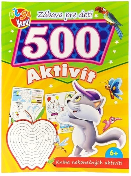Kocúrik, zábavná kniha pre deti. 500 nekonečných aktivit