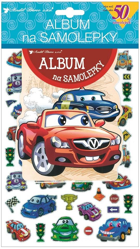 Album na samolepky autá 16x29 cm