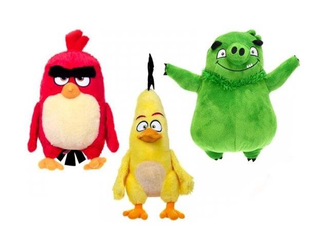 Angry Birds plyšové postavičky, 3 druhy - zelená