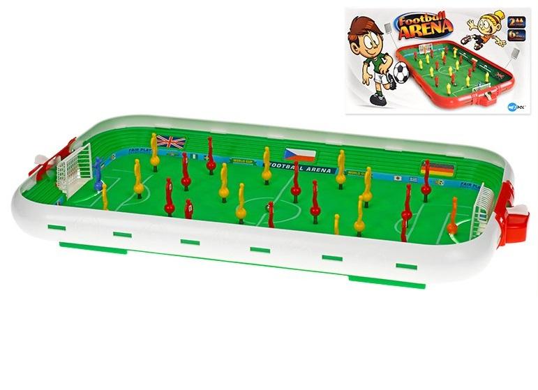 Stolný futbal pružinový 55x30cm - červená