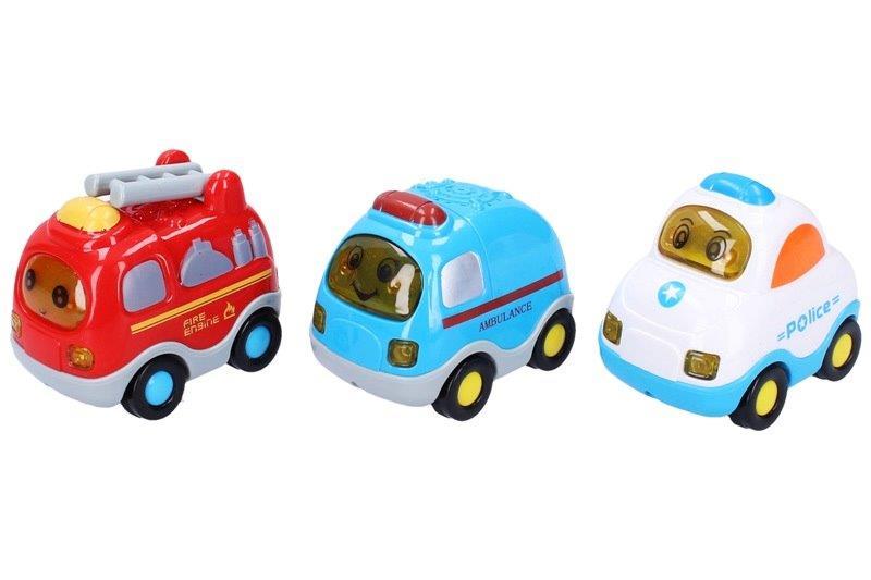 Autá set 3 ks 8 cm