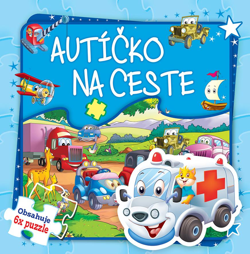 Puzzle kniha Autíčko na ceste