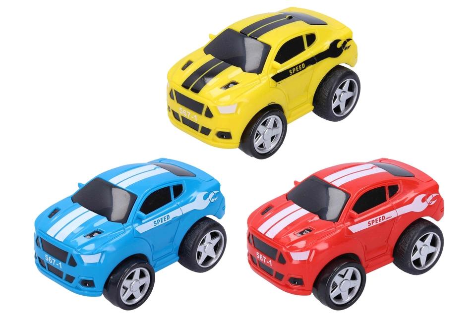 Auto športové 10cm - červená