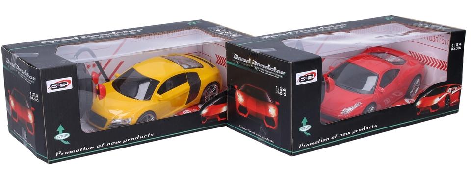 Auto 1:24 RC 18cm - červená