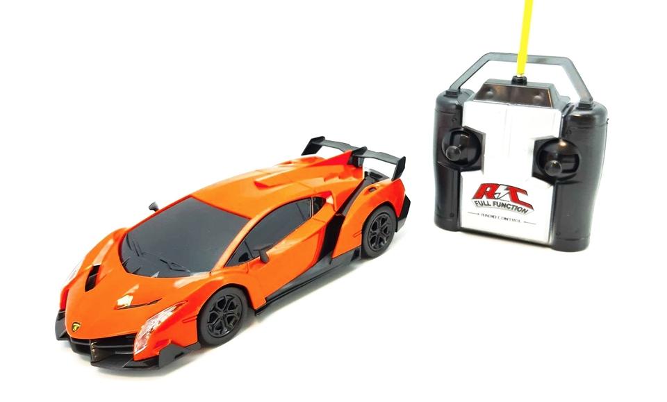 Auto pretekárske 20cm RC - oranžová