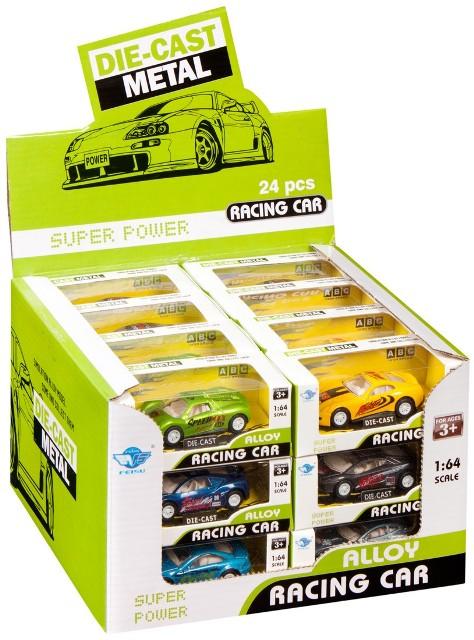 Auto závodné 7 cm - zelená