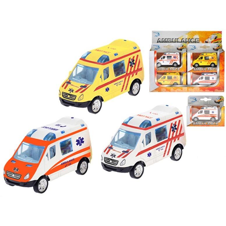 Auto Ambulancia 8,5cm/3druhy - oranžová