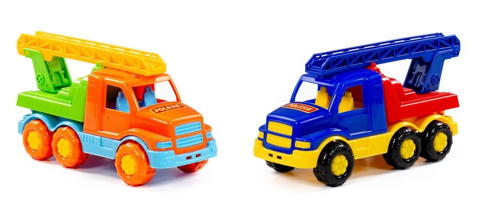 Hasičské auto Gosha Truck 26cm - žltá a oranžová