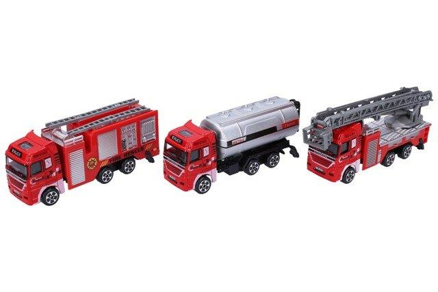 Nákladné, hasičské kovové auto 12 cm