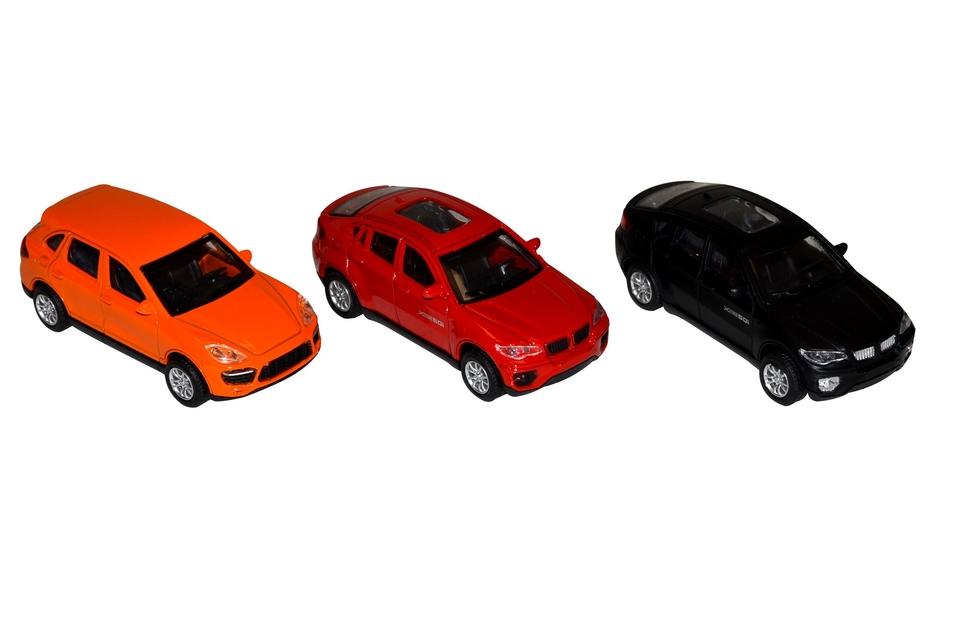 Auto kovové 8 cm - oranžová