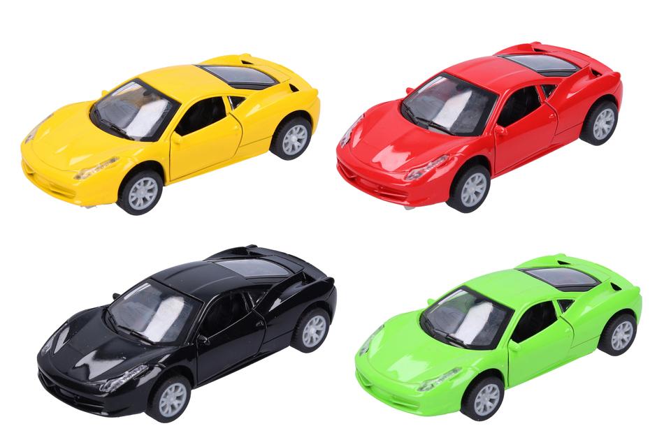 Kovové autá 11,5cm - červená