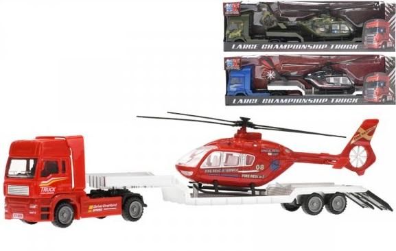 Nákladnéauto s vrtuľníkom 30cm - čierna