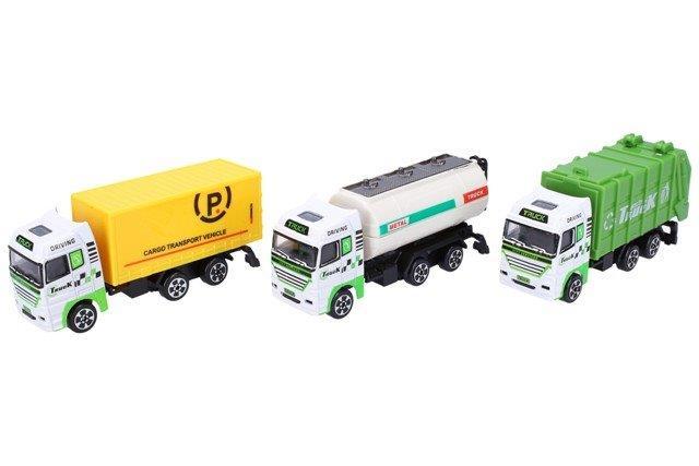 Auto nákladné kovové 12 cm - biela