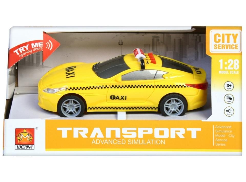 Auto Taxi na zotrvačník na batérie 16cm