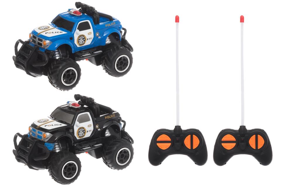 Policajné auto RC 14cm - modrá