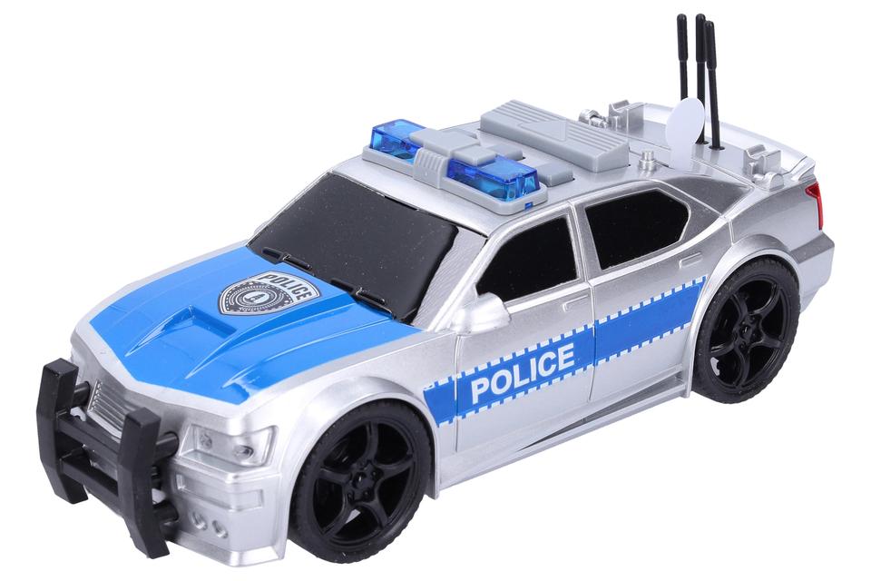 Policajné auto na zotrvačník 19cm