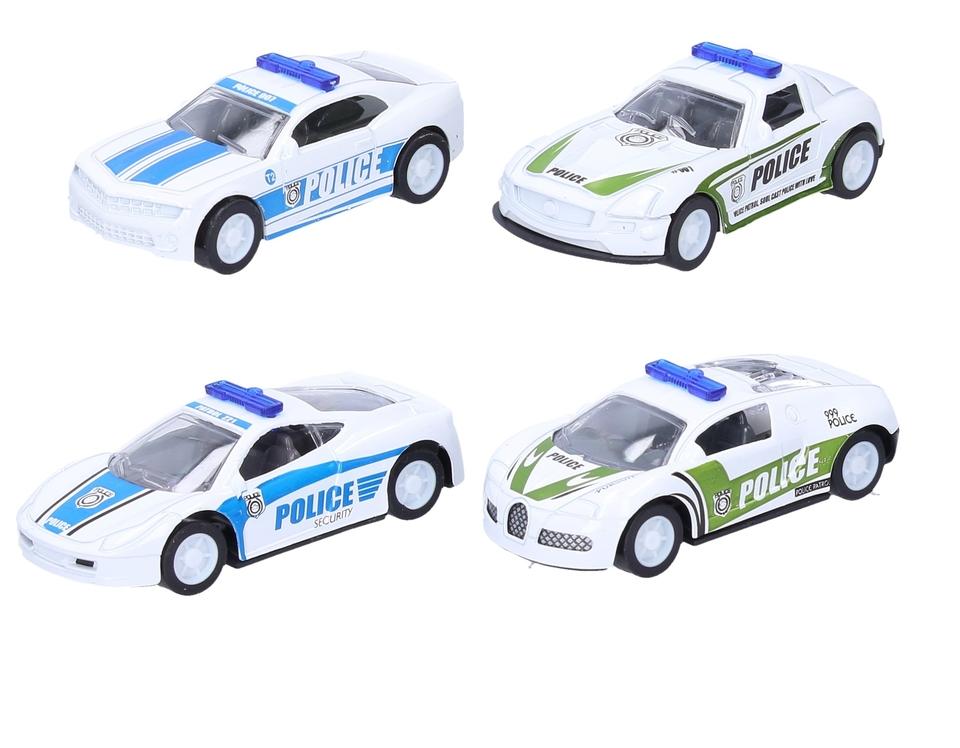 Policajné kovové autíčko 8cm - Aston Martin