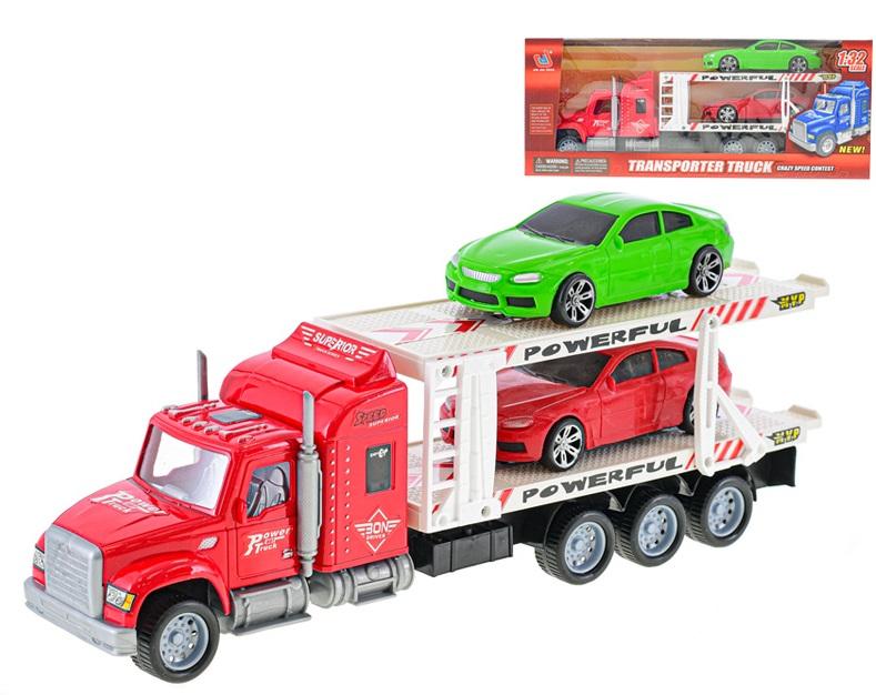 Kamión ťahač s autami 38cm