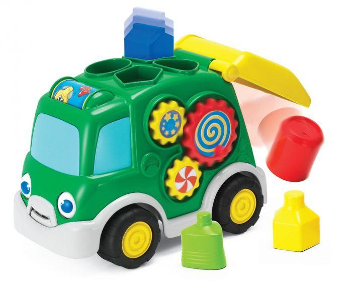 Auto s geometrickými tvarmi 25cm