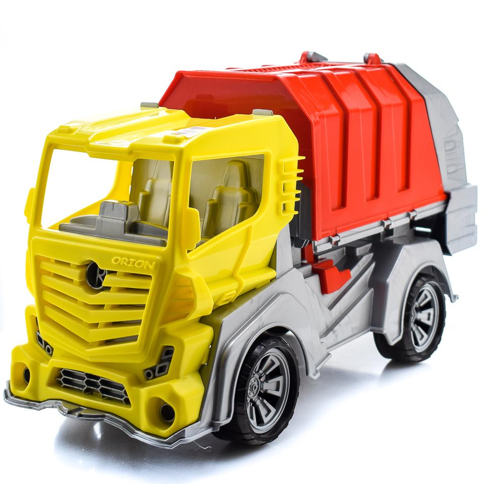 Auto smetiarske 50cm - žlto–červená