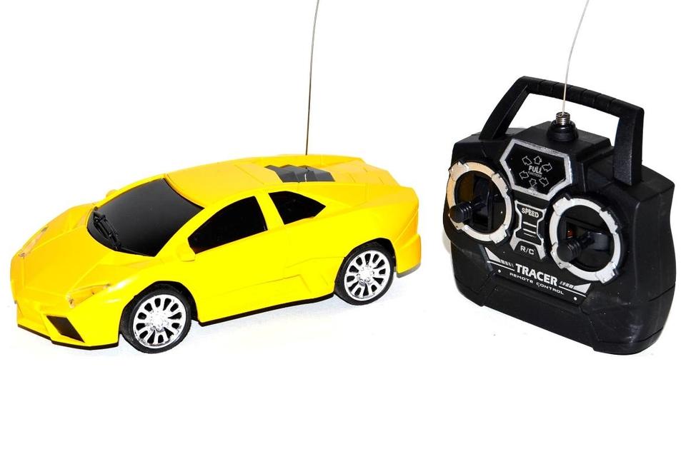 Auto športiak RC 15cm - žltá