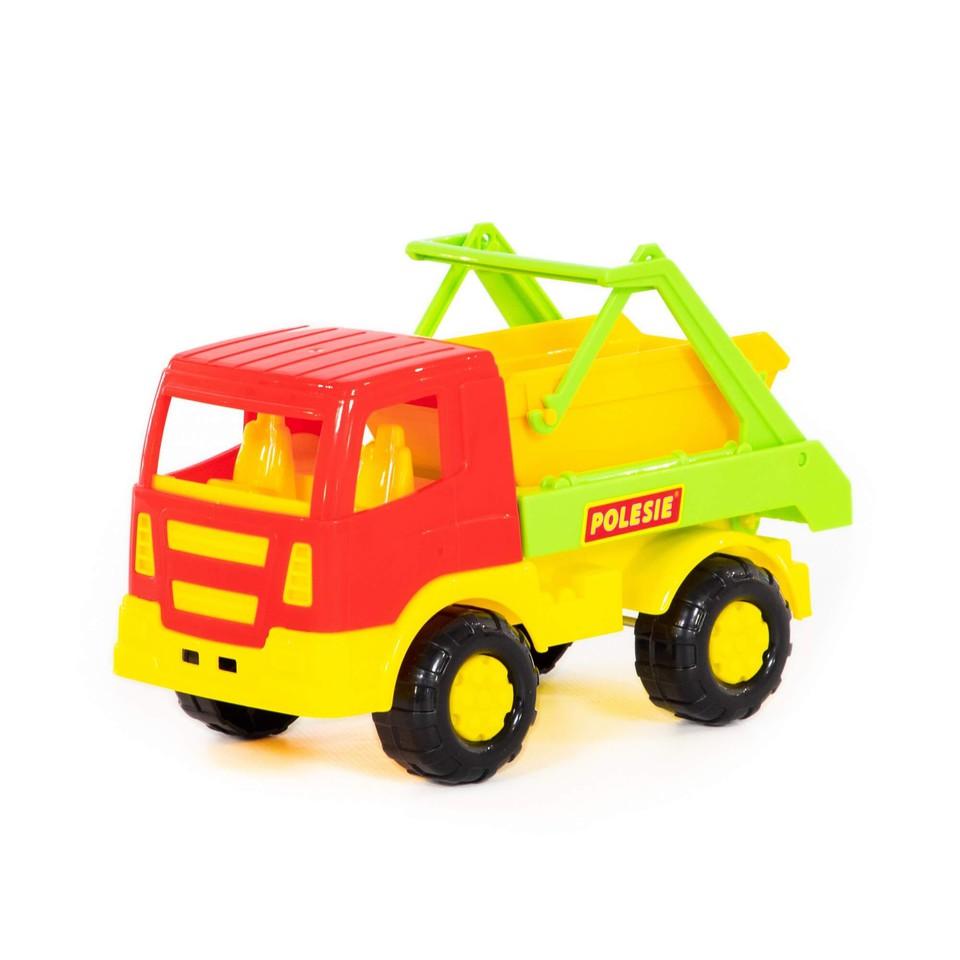 Auto s kontajnerom 20cm - červená