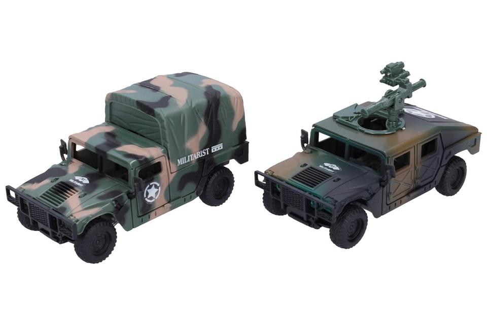 Vojenské auto 13cm - s guľometom