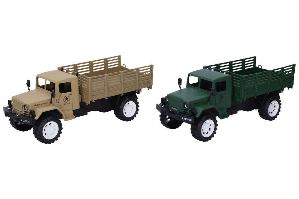 Vojenské auto na zotrvačník 27cm - hnedá