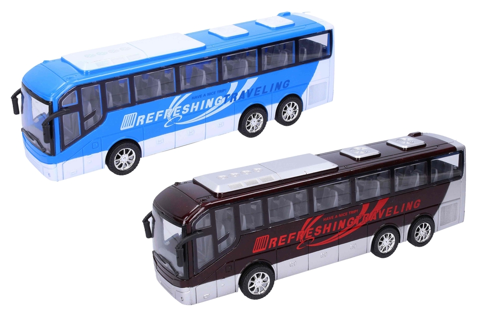 Autobus na zotrvačník 32cm - čierna