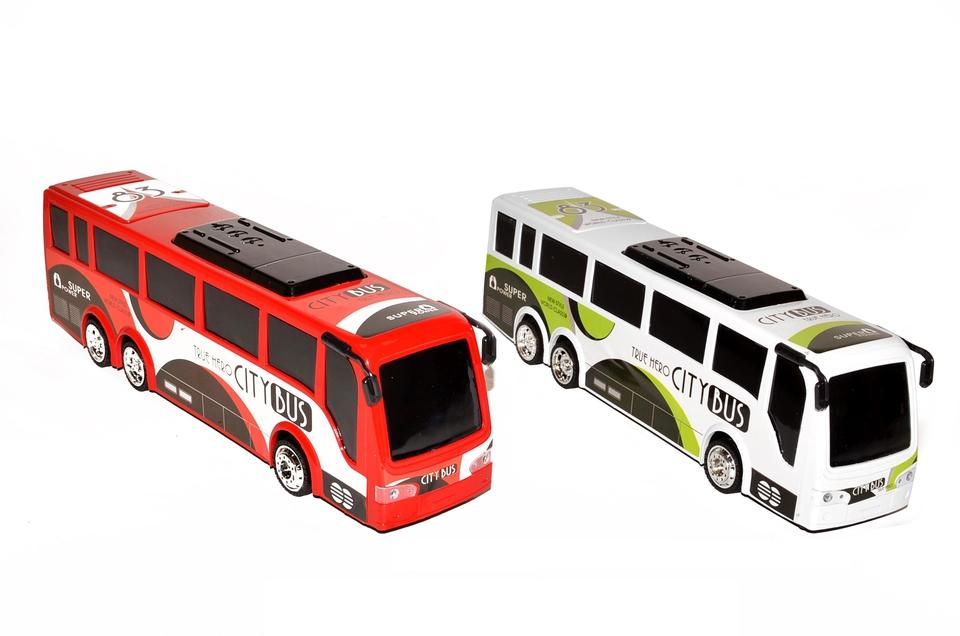 Autobus City 35cm - červená
