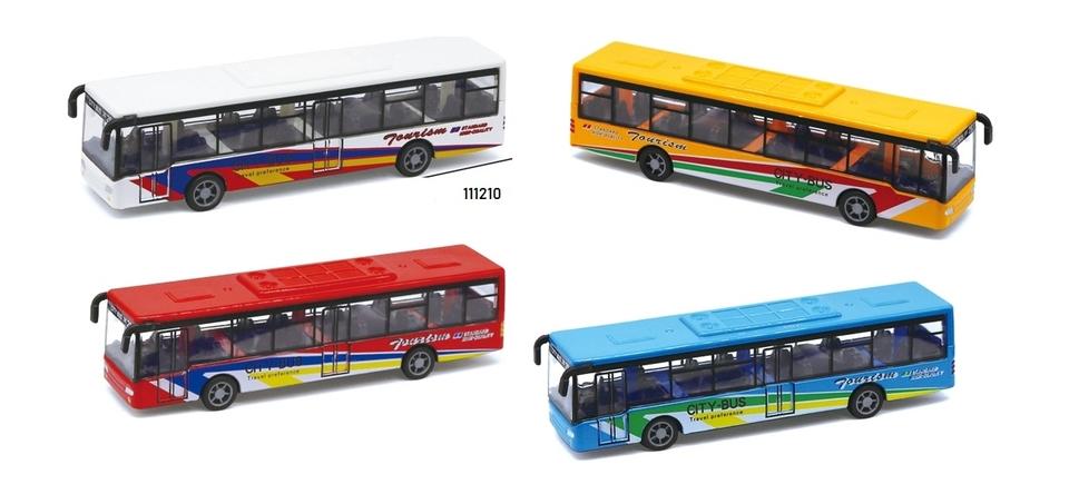 Autobus City kovový 15cm - biela