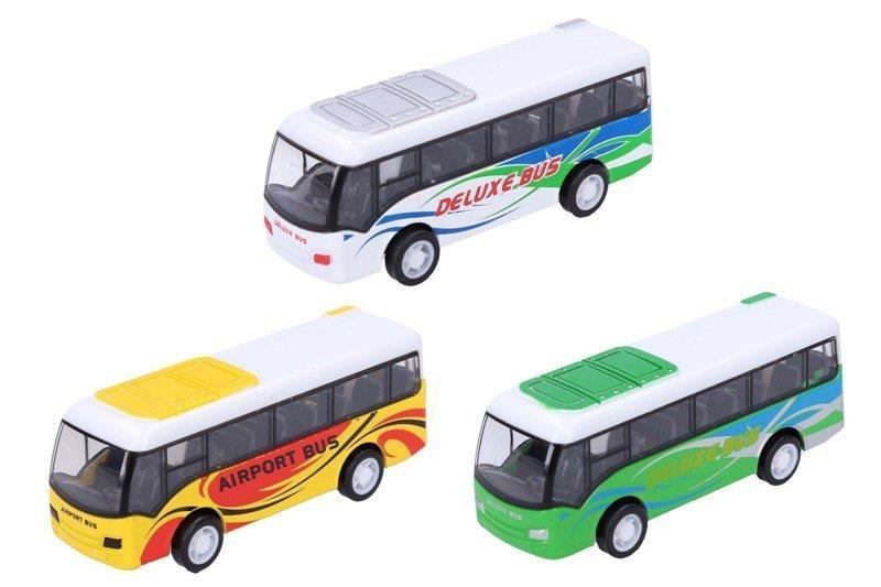 Autobus kovový 9cm - biela