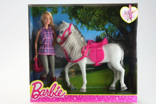 Barbie bábika s koňom 32cm