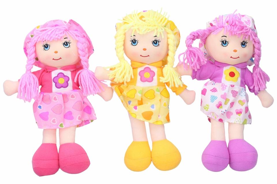 Látková bábika 30cm - náhodná