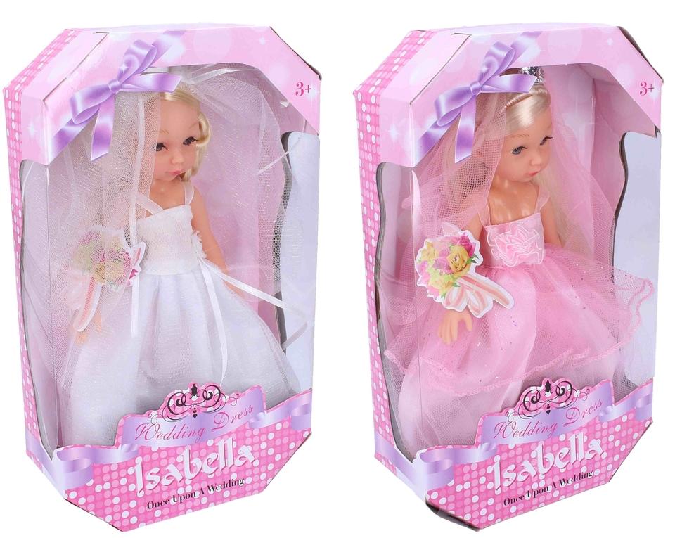 Bábika Nevesta Isabella 25cm - biela