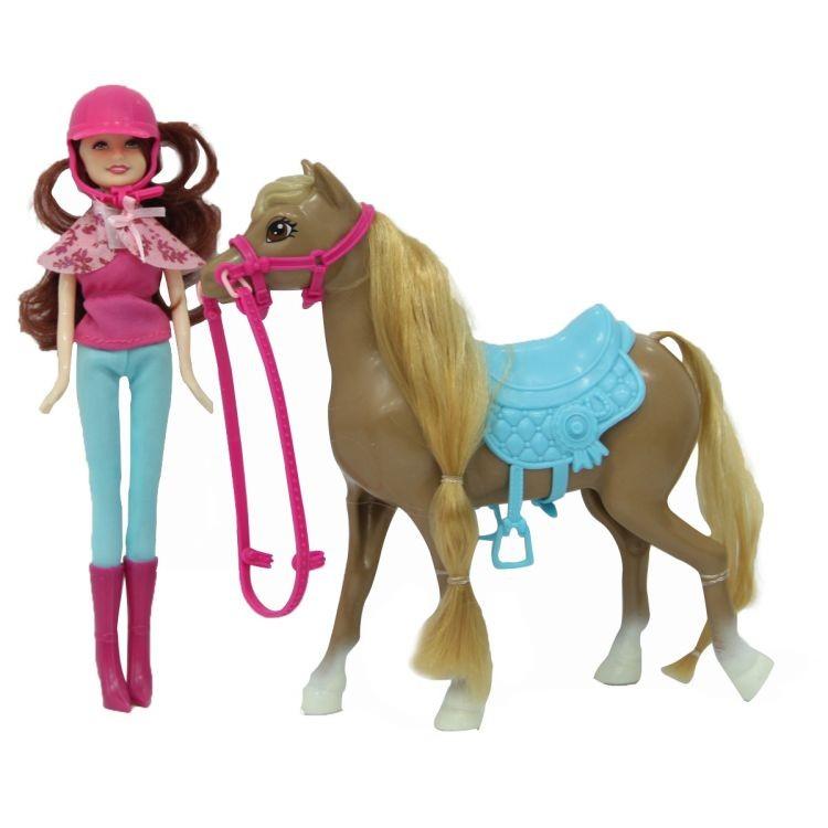 Bábika s koníkom 21cm
