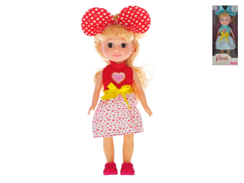 Bábika s mašľou 25 cm - náhodná