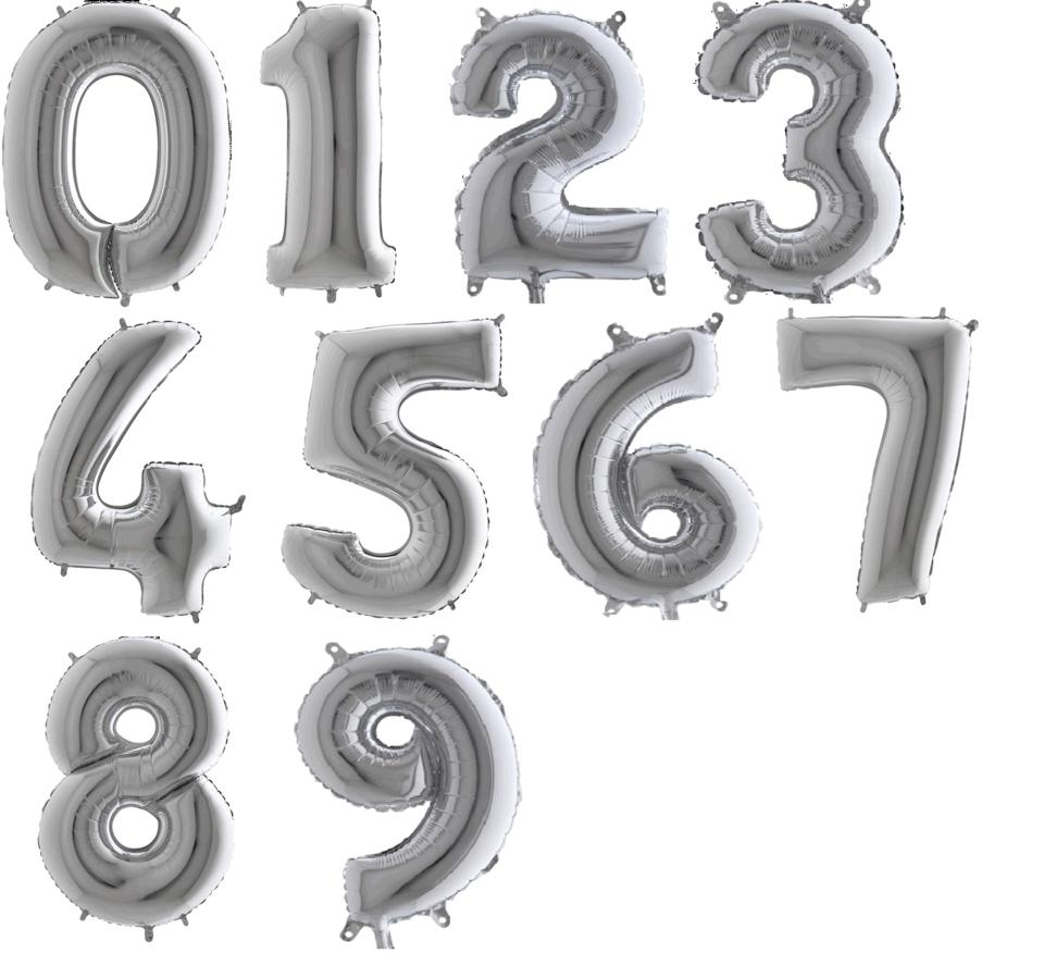 Balón číslo/ písmeno 0-9 - 6