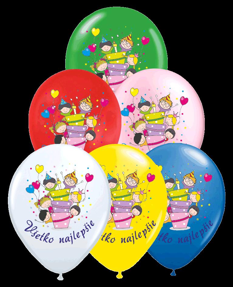 Balóny detské narodeninový 100ks