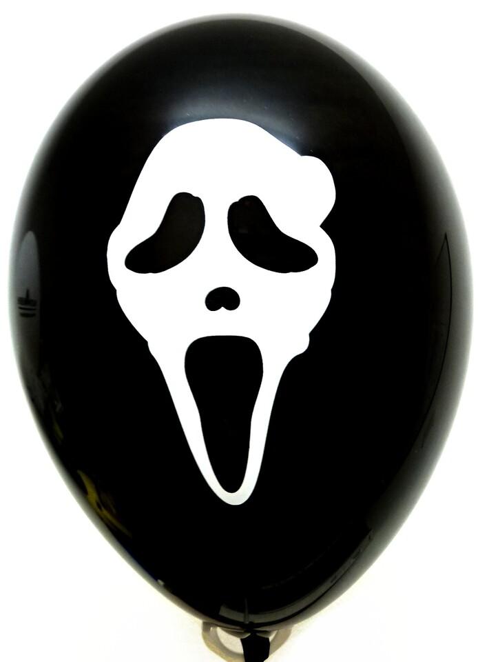 Balón s potlačou Nový rok/Halloween/Vreskot 100ks - Halloween