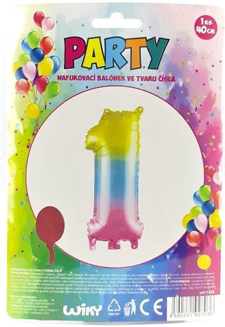 Nafukovací balónik v tvare čísla 1.