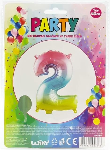 Nafukovací balónik v tvare čísla 2.