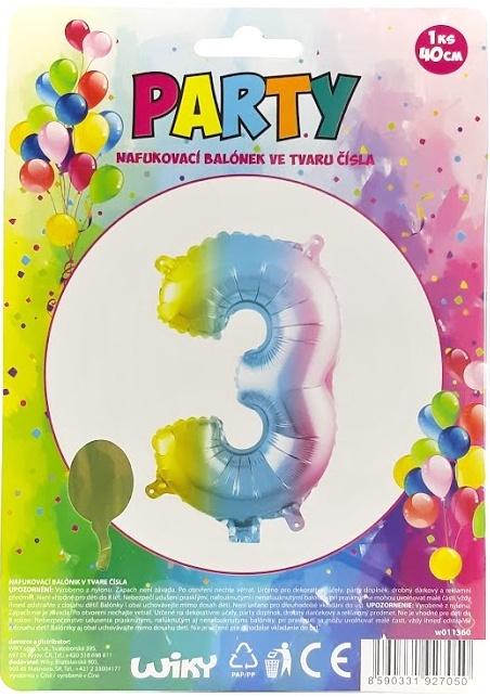 Nafukovací balónik v tvare čísla 3.