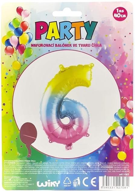Nafukovací balónik v tvare čísla 6.