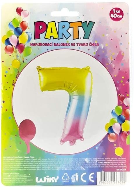 Nafukovací balónik v tvare čísla 7.