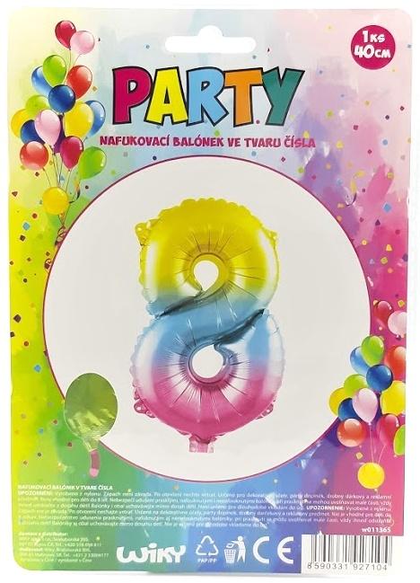 Nafukovací balónik v tvare čísla 8.