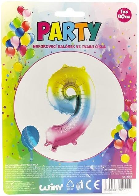 Nafukovací balónik v tvare čísla 9.