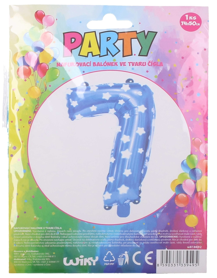 Nafukovací balón modrý s hviezdami, číslo.7