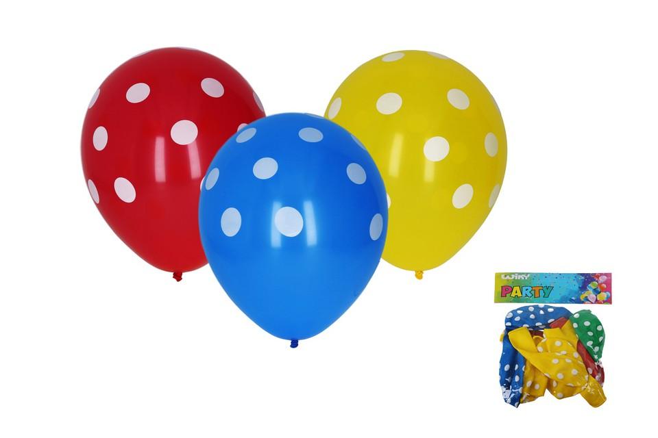 Balóny Bodky 30cm/10ks